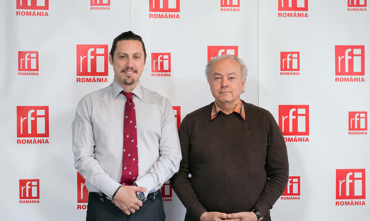 Dan Pavel și Simion Ioan in studioul radio RFI Romania