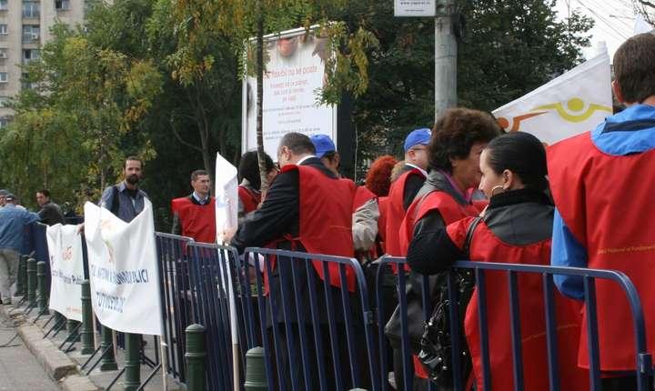 Proteste în administraţia publică (Sursa foto: site SNFP)