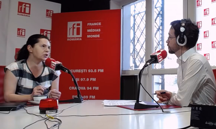 Adriana Săftoiu, în studioul RFI
