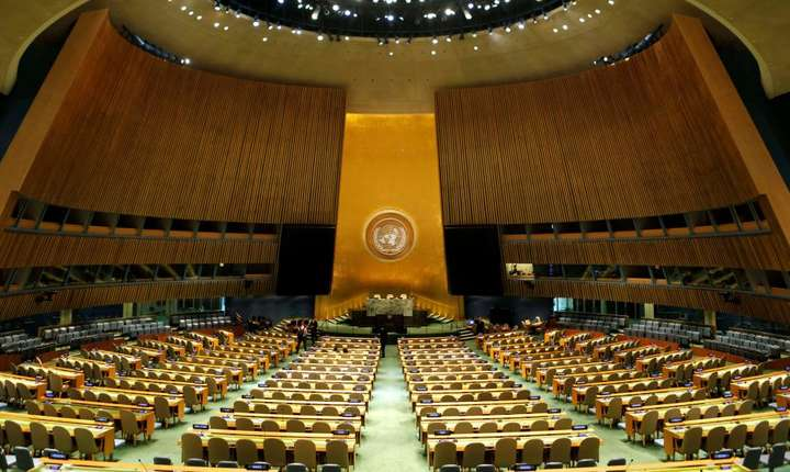 Adunarea Generala a Natiunilor Unite, New York.