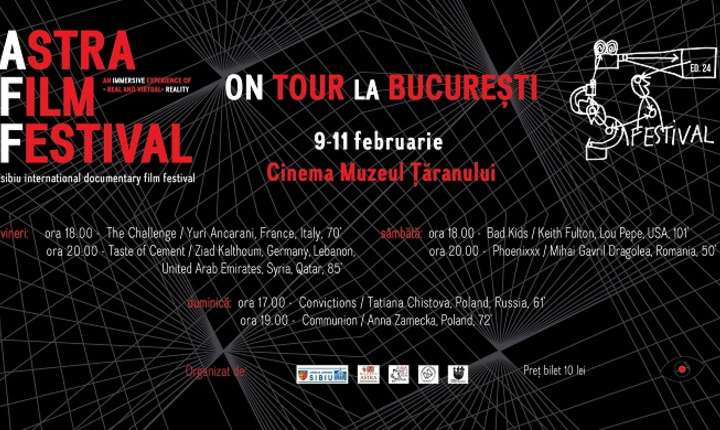 Afiș Astra Film Festival on tour la București