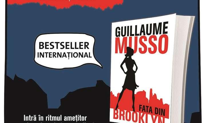 Afiș Lansarea cărții Fata din Brooklyn de Guillaume Musso