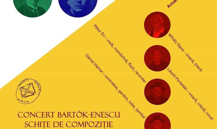 Afiș Concert Bartók-Enescu – Schițe de Compoziție