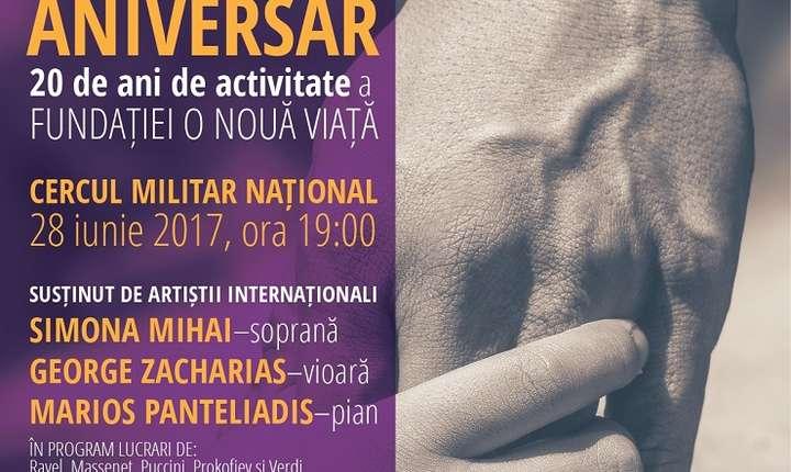 Afiș Concert Aniversar - Fundația Umanitară O nouă viață, București 2017