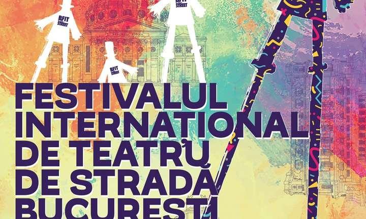 Afiș Festivalul Internațional de Teatru de stradă B-FIT in the street, 2017