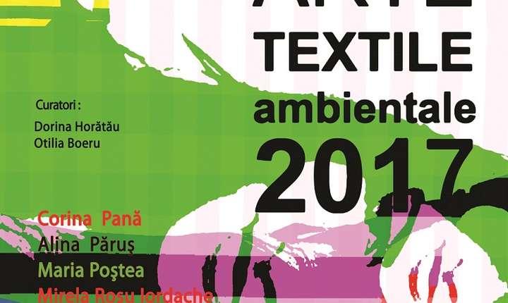 Afiș Expoziția  Master Arte Textile Ambientale, 2017