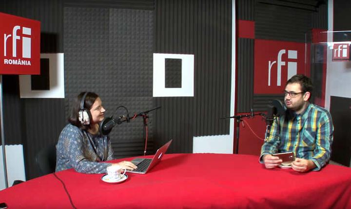 Ana-Maria Caia și Bogdan Nicolai in studioul RFI Romania