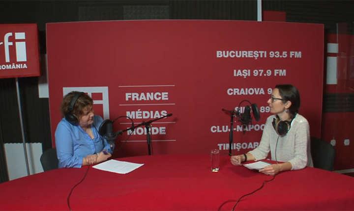 Andreea Orosz și Ilinca Apetrei la RFI Romania