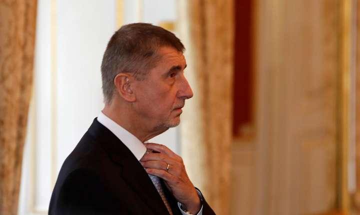 Miliardarul Andrej Babis a fost numit în fruntea cabinetului minoritar pe 13 decembrie 2017