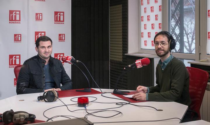 Levente Toth şi Cosmin Ruscior, în studioul RFI