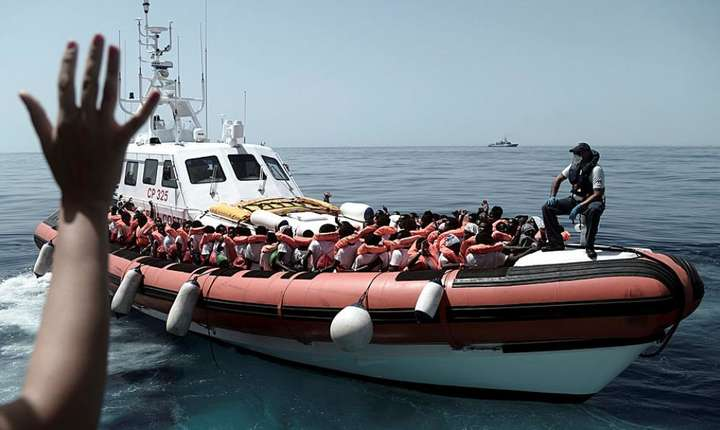 Migranti ajutati de asociatia SOS Méditéranée, 12 iuinie 2018