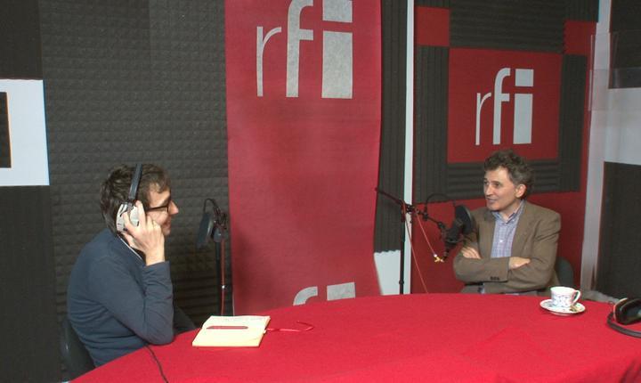 Dan Pârvu si Erwin Kessler in studioul RFI Romania