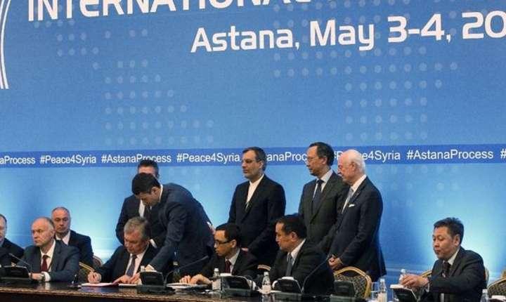 Pe 4 mai 2017 s-a semnat la Astana primul acord privind creerea de zone securizate în Siria