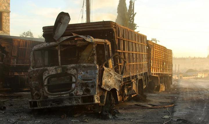 Atacul convoiului umanitar, care a avut loc luni lângă Alep, s-a soldat cu moartea a peste 20 de civili