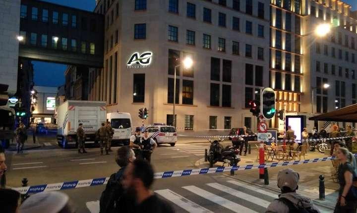 Măsuri de securitate, după atacul din Bruxelles (Foto: Thomas Da Silva Rosa via Reuters)