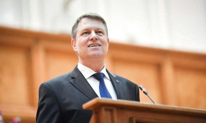 Preşedintele Klaus Iohannis, în Parlament-arhivă (Sursa foto: site Preşedinţie)
