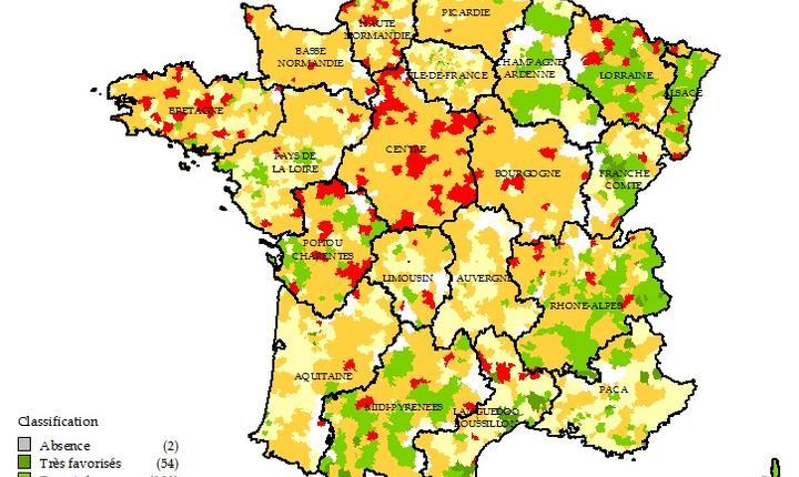 Regiunile defavorizate din Franta în care nu sunt destui medici