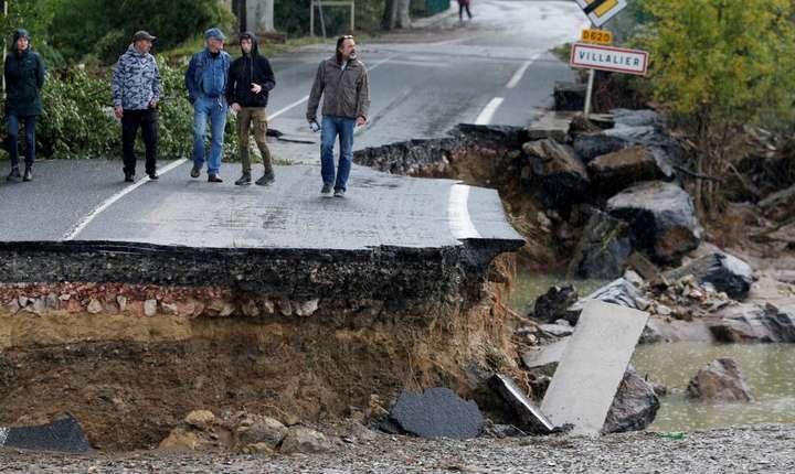 Comuna Villalier a fost una dintre cele mai afectate de inundatii cu un bilant de doi morti.