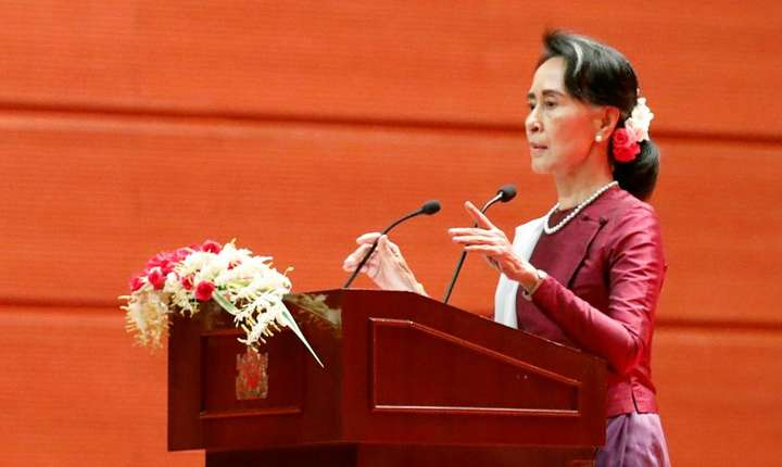 Discursul consilierei de stat birmane Aung San Suu Kyi privind criza minoritàtii rohingya, 19 septembrie 2017, Naypyidaw