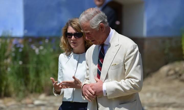 Prințul Charles și Aura Woodward în România
