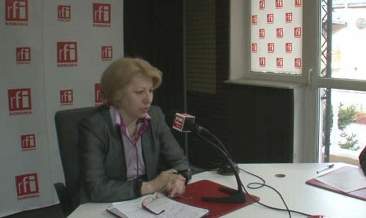Ministrul Fondurilor Europene, Aura Răducu, în studioul RFI România