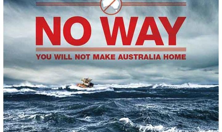Afis al campaniei guvernamentale din Australia pentru a-i descuraja pe imigranti