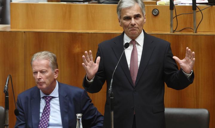 Cancelarul austriac, Werner Faymann (Foto: Reuters/Heinz-Peter Bader)