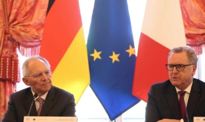 Wolfgang Schäuble şi Richard Ferrand, Paris, 25 martie 2019