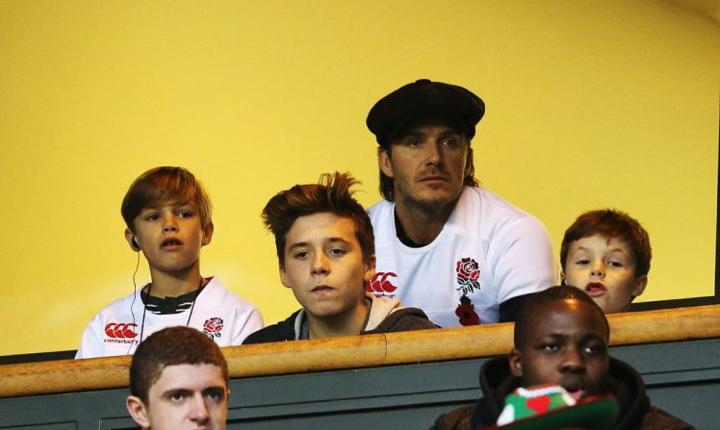 David Beckham pe stadionul Twickenham