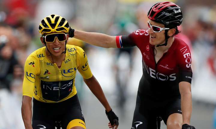 Egan Bernal și Geraint Thomas