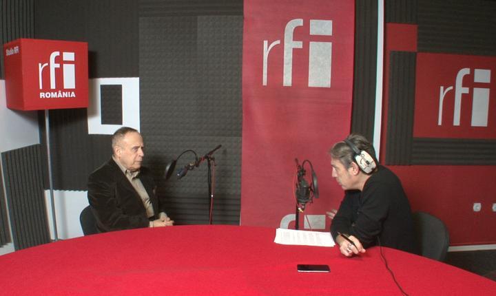 Radu Boroianu și Nicolas Don în studioul RFI