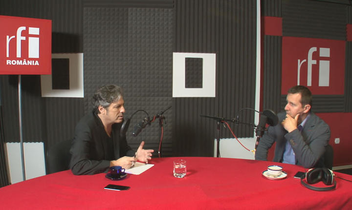 Nicolas Don și Alexandru Căutiș i studioul RFI Romania