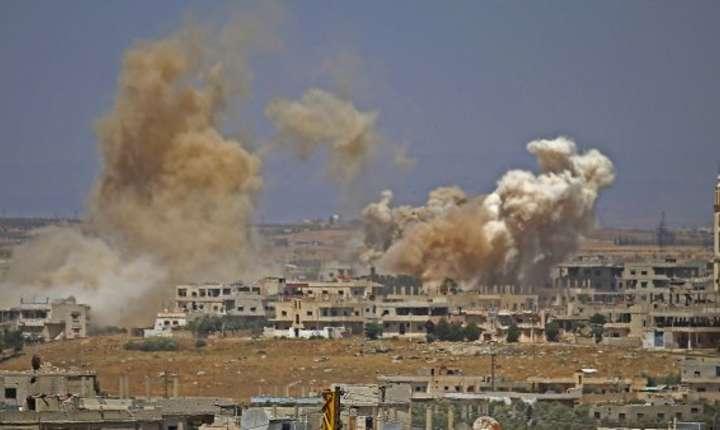Bombardamente aveau loc în orasul sirian Deraa pe 29 iunie 2018