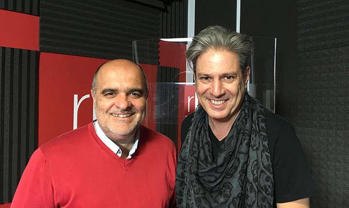 Ovidiu Nahoi și Nicolas Don in studioul de inregistrari radio