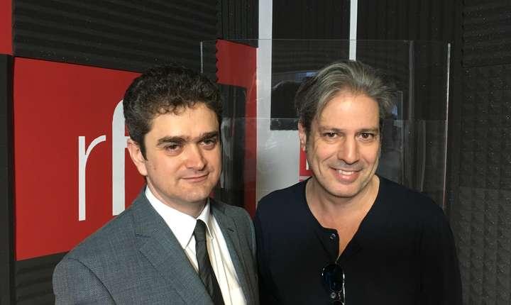 Theodor Paleologu si Nicolas Don in studioul RFI Romania