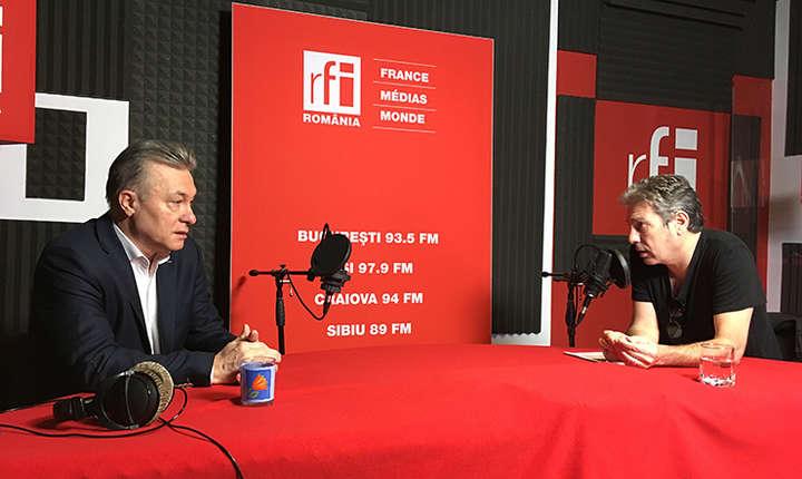 Cristian Diaconescu și Nicolas Don in studioul RFI Romania