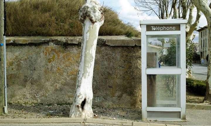 Cabină telefonică în Franţa
