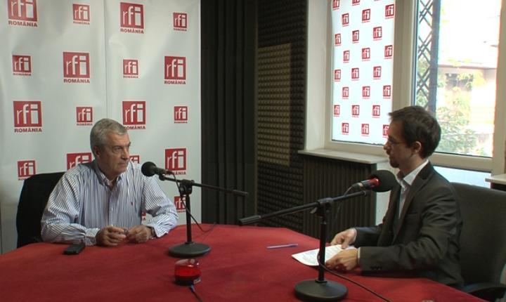 Preşedintele Senatului, Călin Popescu Tăriceanu, aici în studioul RFI (arhivă)