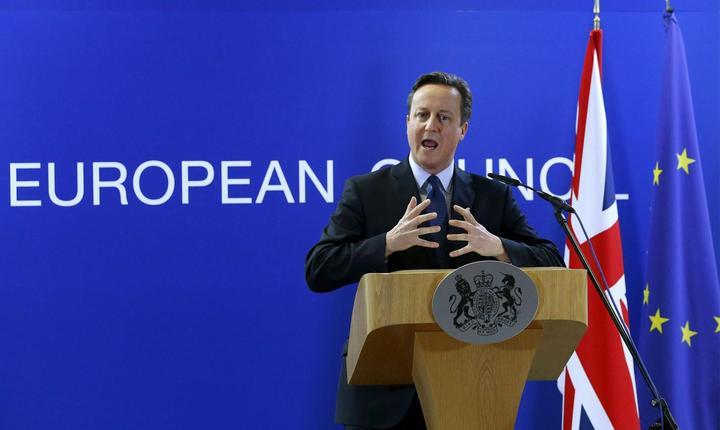 Premierul britanic, David Cameron, la summitul UE de la Bruxelles