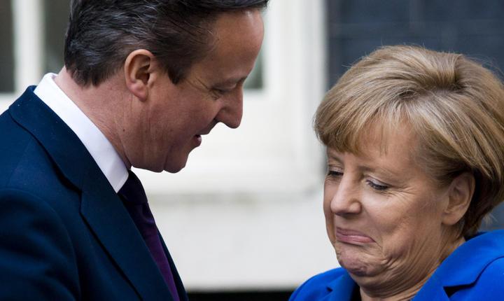 David Cameron și Angela Merkel