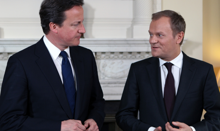 David Cameron și Donald Tusk