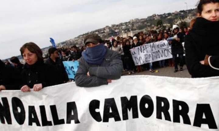 Manifestatie la Napoli împotriva Camorrei