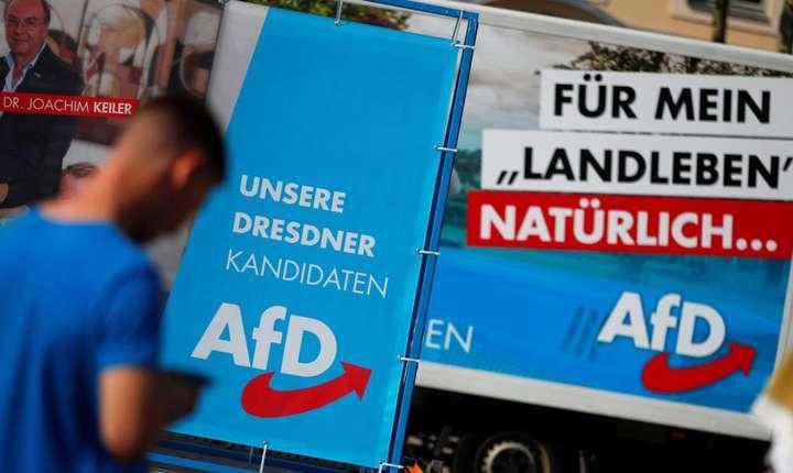 Campania electorala a partidului de extrema dreapta din Germania - AFD - la Dresda, 25 august 2019.