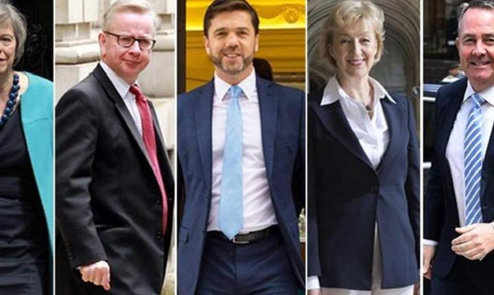 Theresa May, Michael Gove, Stephen Crabb, Andrea Leadsom și Liam Fox