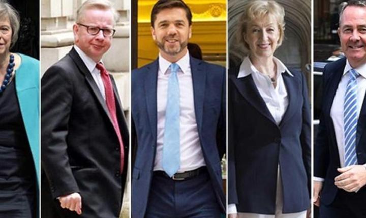 Theresa May, Michael Gove, Stephen Crabb, Andrea Leadsom și Liam Fox
