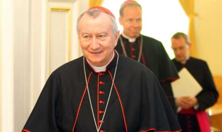 Cardinalul Pietro Parolin la Vilnius, Lituania, 9 mai 2016