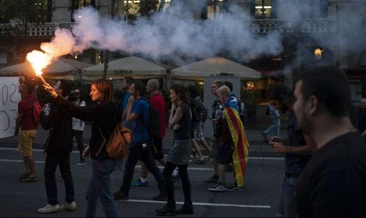 Separatistii catalani au organizat mitinguri la un an de la referendumul esuat privind independenta