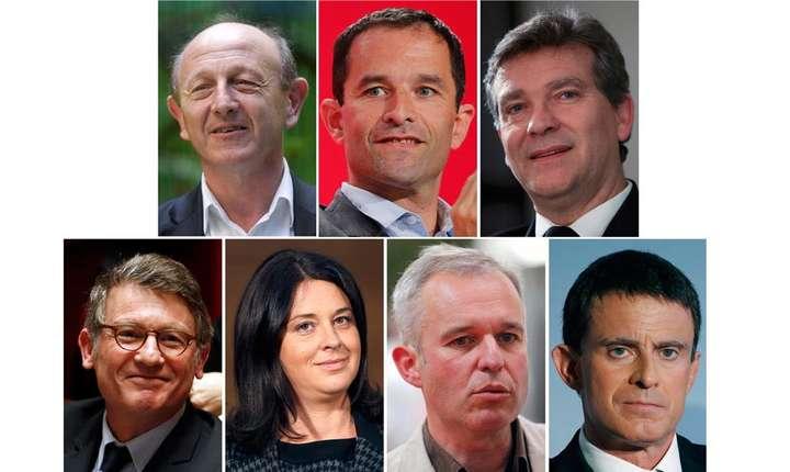Cei sapte candidati pentru primarele de stanga (alegeri pe 22 si 29 ianuarie 2017)