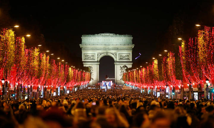 Bulevardul Champs-Elysées, decembrie 2019