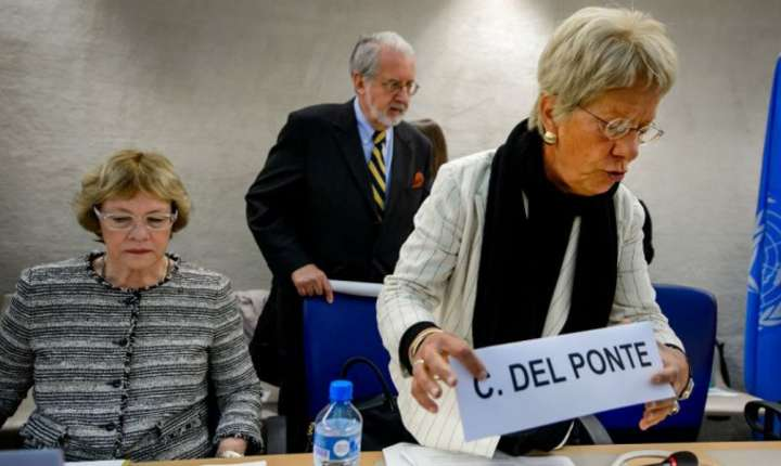 Carla del Ponte face parte din Comisia ONU privind Siria din 2012